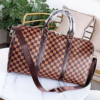 LV Louis Vuitton Classic Popular Women Men Leather Luggage Travel Bags Tote Handbag