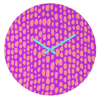 Rebecca Allen Pebble Beach Wild Round Clock