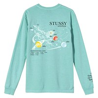 Solar System Pigment Dyed Long Sleeve T-Shirt Aqua