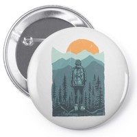 hiker Pin-back button