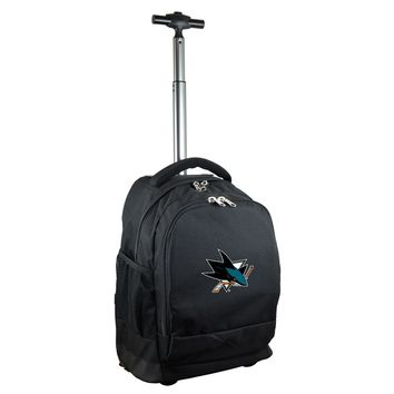 San Jose Sharks Wheeled Premium Backpack