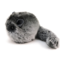 Stuffed Chinchilla Stuffed Animal Cute Plush Toy Chinchilla Kawaii Plushie Smokey the Dark Grey Cuddly Faux Fur Chinchilla Small 4x5 Inches