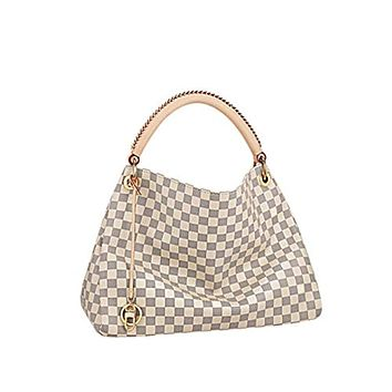 Style Artsy Quality Canvas Damier Azur Color Shoulder Handbag Attractive for Women and Men MM Size Fashion Bag by DMYTROVITCHUK