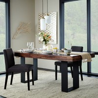 Staggered Wood Dining Table