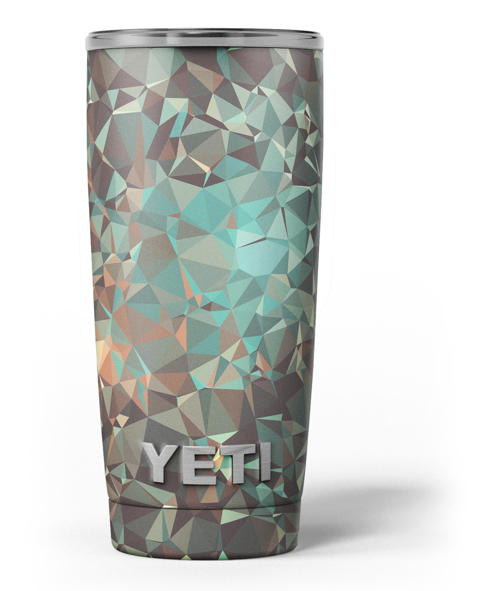 Image of Abstract MultiColor Geometric Shapes Pattern - Skin Decal Vinyl Wrap Kit compatible with the Yeti Rambler Cooler Tumbler Cups