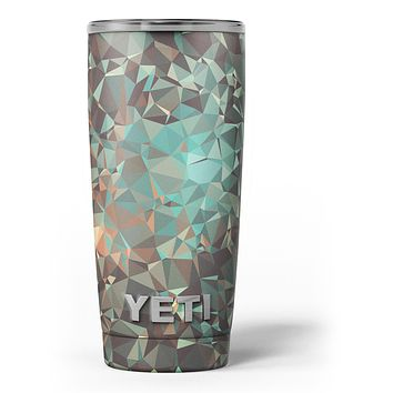 Abstract MultiColor Geometric Shapes Pattern - Skin Decal Vinyl Wrap Kit compatible with the Yeti Rambler Cooler Tumbler Cups