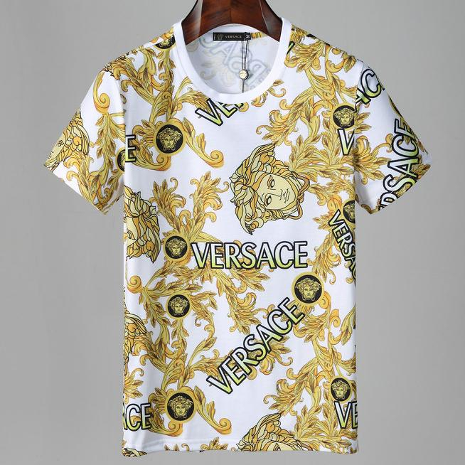 Image of Versace summer new round neck short-sleeved T-shirt