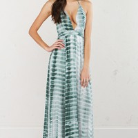 Halter Maxi Dress in Sage