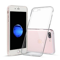 iPhone 7 Plus and iPhone 8 Plus Case Thin Rubber Transparent Soft Silicone Shockproof Clear