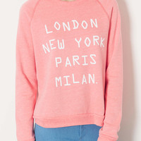 Cities Tri Marl Sweat - Pale Pink