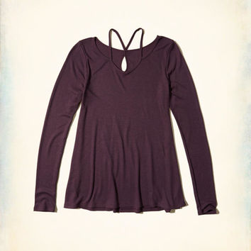 Girls Must-Have Strappy Swing T-Shirt | Girls Tops | HollisterCo.com