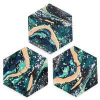 Sedimentation Coasters – Sight Unseen