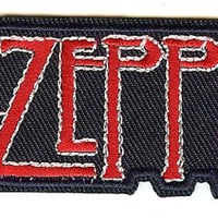 Led Zeppelin Iron-On Patch Red Letters Logo