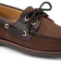 Sperry Top-Sider Gold Cup Authentic Original 2-Eye Boat Shoe Brown/BucBrown, Size 12M  Men's Shoes