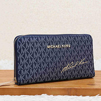 Michael Kors MK Women Fashion Leather Zipper Purse Wallet
