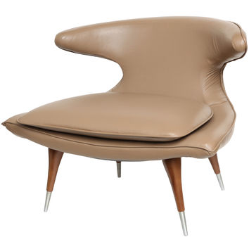 "Modern Sculptural 'Horn"" Lounge Chair by Karpen"