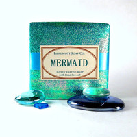 Mermaid Cold Process Soap - Handmade Soap - Salt Soap