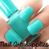 Mystic Turquoise - Mint Blue Green Nail Polish Lacquer 16ml by nailartsupplies