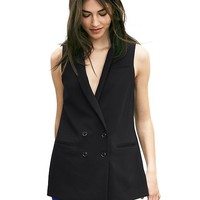 Banana Republic Womens Double Breasted Long Vest
