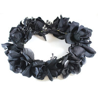 Black Rose Floral Headcrown | VidaKush