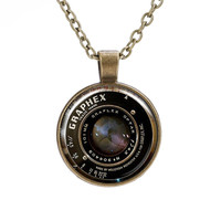 Gift Jewelry Shiny New Arrival Stylish Camera Mirror Gemstone Vintage Necklace(With Thanksgiving&Christmas Gift Box) [8026209607]