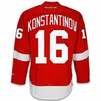 Vladimir Konstantinov Detroit Red Wings Home Jersey by Reebok - SEWN TACKLE TWILL NAME/NUMBER
