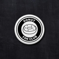 Donut fan club button
