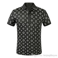 2020 European New polo shirt embroidery T shirts for Mens Tops Short sleeves Louis Vuitton casual Tee Breathable t shirts