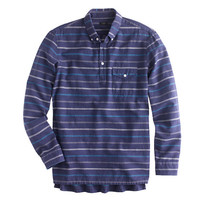 BRUSHED TWILL POPOVER IN BLUE GROTTO STRIPE