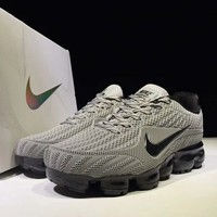 NIKE AIR VAPORMAX FLYKIT Fashion Flats Sport Shoes Running Sneakers GREY G-CSXY