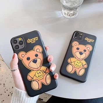 Unisex Personality Fashion Frosted Smiley Bear Apple iPhone Snap-on Phone Case Soft Shell Phone Case