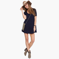 Navy Loose Mini Dress