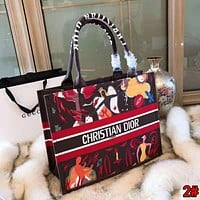 "Hot Sale ""Christian Dior"" High Quality Stylish Women Shopping Bag Leather Handbag Tote Shoulder Bag"