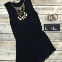 Simply Stated Romper: Black