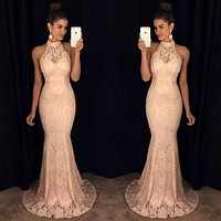 Fashion and leisure new bridesmaid dress wedding dress lace dress long dress