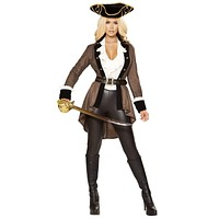 Sexy Adrift Swashbuckling Pirate Costume with Accessories