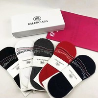 Balenciaga Fashion Women Men Sock Print Letters Sock A Box Set