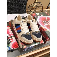 Gucci Men Fashion Boots fashionable Casual leather Breathable Sneakers Running Shoes-738