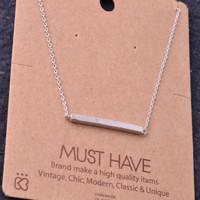 Must Have Necklace: Silver Bar