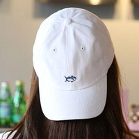 Embroidery Fish Baseball Cap