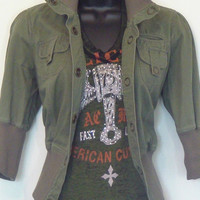 Army Style Cropped Jacket from Tammi's Place