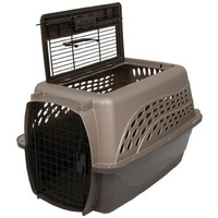 Petmate Two Door Top Load 24-Inch Pet Kennel, Metallic Pearl Tan and Coffee Ground Bottom $34.99