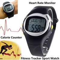 Pulse Heart Rate Monitor Wrist Watch Calories Counter Sports Fitness Exercise (Color: Black) = 1956317956