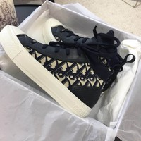 Christian Dior Walk Technical Knit Oblique Mid-top Sneaker - Best Online Sale