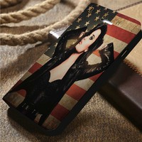 Demi Lovato Custom Wallet iPhone 4/4s 5 5s 5c 6 6plus 7 and Samsung Galaxy s3 s4 s5 s6 s7 case