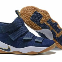 HCXX Nike Zoom Air Men's Lebron Soldier 11 Basketball Shoes Blue 40-46