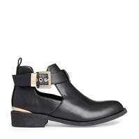 River Island Black Jennie Cut Out Ankle Boots at asos.com