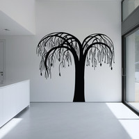 Vinyl Wall Decal Sticker Tree with Hanging Branches #OS_MB1027