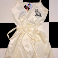 SWEET LORD O'MIGHTY! KITTY WRAP DRESS IN PEARL