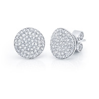 Simply Pave Circle Earrings
